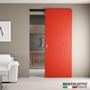 Porte scorrevoli moderne colorate